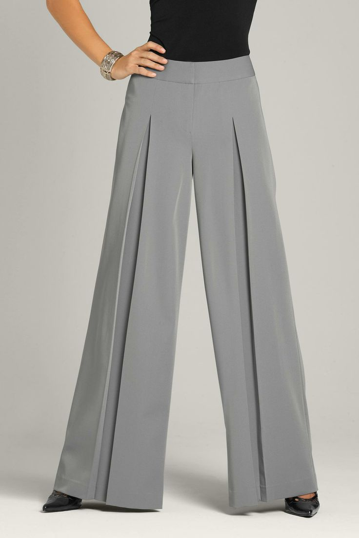 palazzo pants | Pleated Palazzo Pant--- LOVE the pleat!!! ~Viking princess