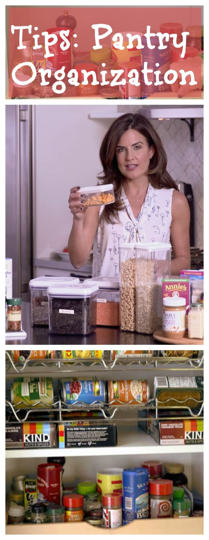 Tips for organizing your pantry, from using clear