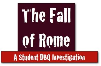 fall of rome dbq Why did rome fall 892 words | 4 pages the fall of rome the fall of rome the fall of rome the roman empire was without a doubt the most powerful governing body in the mediterranean ever why did rome fall there was not any single cause to the fall of rome it was many things occurring in succession to each other.