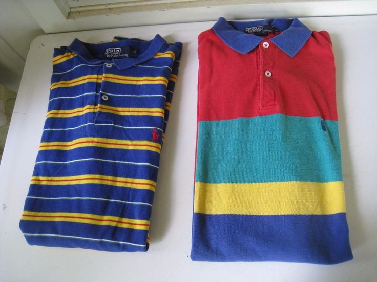 vintage 1990s striped preppy Polo by Ralph Lauren mens shirts (qty 2) clean XL | Clothing, Shoes & Accessories, Vintage, Men's Vintage Clothing | eBay!