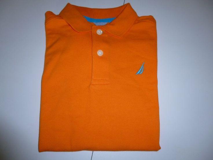 Nautica Toddler Boys Orange Polo Shirt  Size L  (7)  NWT #Nautica #Everyday