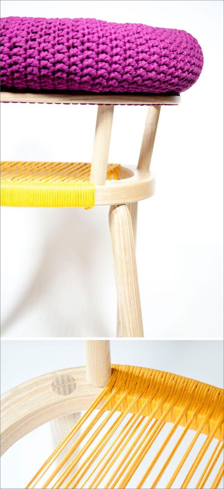 In Diesem Sessel Design Hat Häkeln Verwendet Worden, Um Das Obere Kissen Zu  Erstellen,