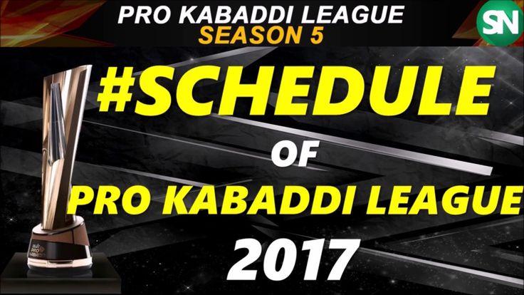 vivo pro kabaddi league season 5 detailed schedule