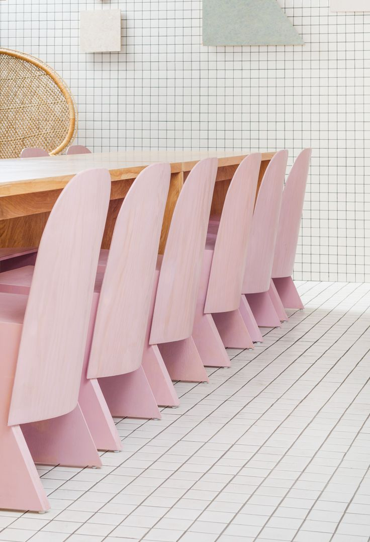 Pink florist chair by knauf brown