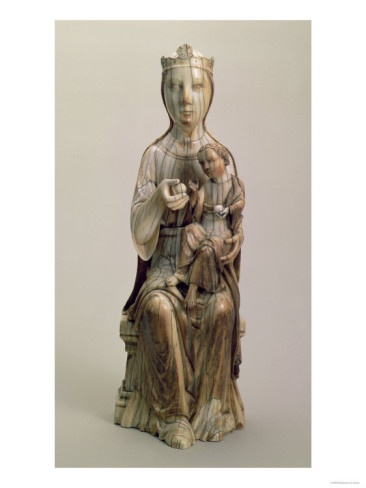 Madonna and Child, Ivory Statue, French, Early 13th Century