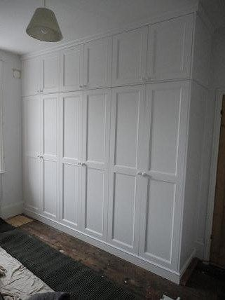 White painted fully fitted  wardrobe