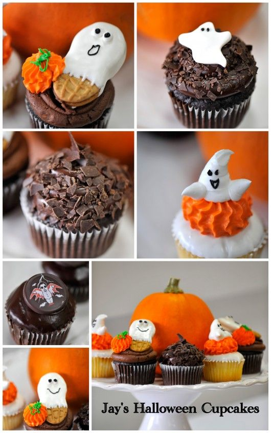 halloween cupcake ideas.  LOVE the nutter butter idea!