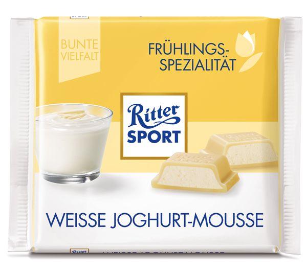 RITTER SPORT Frühlingssorte  Weiße Joghurt-Mousse (2017)