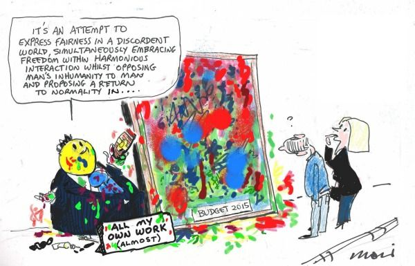 HOCKEY SURREALIST BUDGET HANDIWORK Cartoon by ALAN MOIR