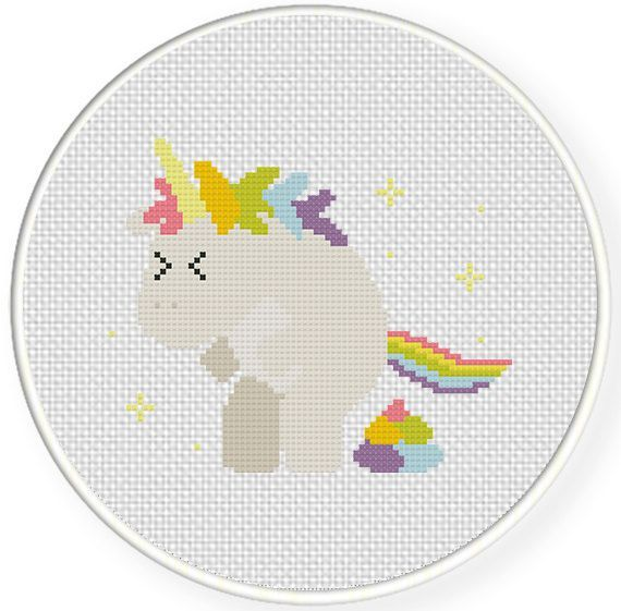 FREE for Jan 27th 2015 Only - Pooping Unicorn Cross Stitch Pattern
