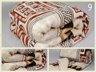 Elegantní plyšová deka béžové barvy s motivem Egypt