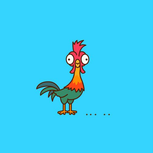 how to draw moana chicken