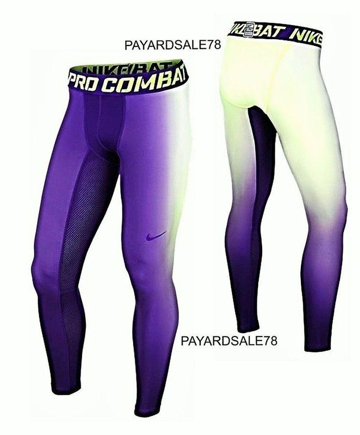 NEW MEN'S NIKE PRO COMBAT DRI-FIT MAX HYPERWARM PANTS TIGHTS COMPRESSION MEDIUM #Nike #BaseLayers