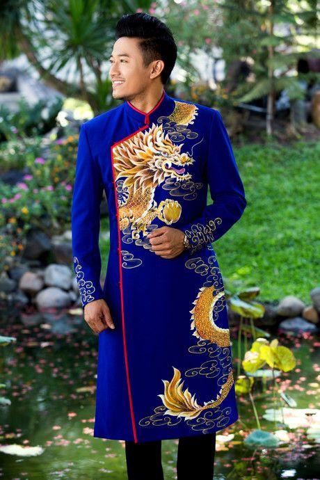 áo dài họa tiết rồng