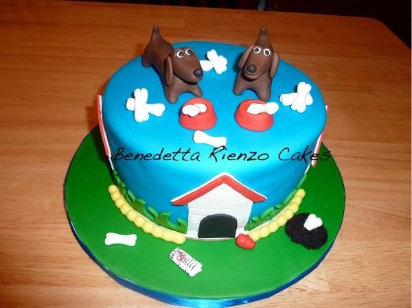 Dachshund dog cake
