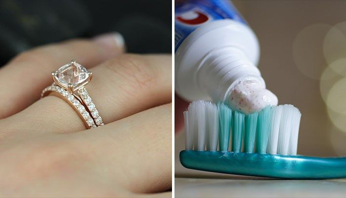 Toothpaste can also help make your engagement ring shine