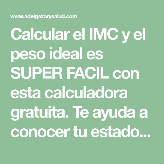 Calcular el IMC y el peso ideal es SUPER FACIL con esta calculadora gratuita. Te ayuda a conocer tu estado de salud y te aconseja sobre el resultado.¡Usala!