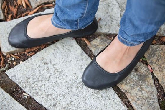 Soft Star Ballerina Flats - mimimalist barefoot shoe, size 10