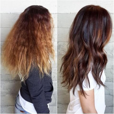 TRANSFORMATION: Shine And Dimension. I wonder if I could get my hair to look like this. (Image on the right, that is.. :) )