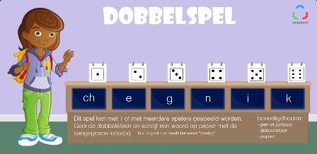 Knutselplaten - Tom en Tamira - dobbelspel voor kinderen voor het oefenen van spelling