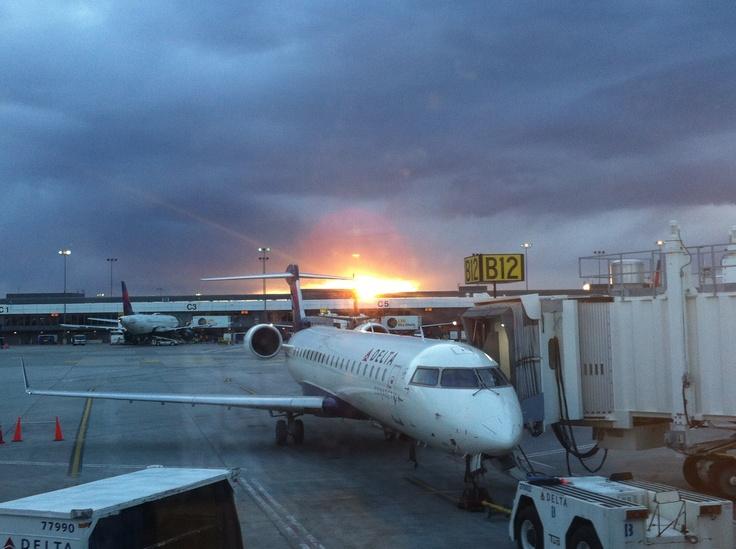 CRJ 200 at Sunset.