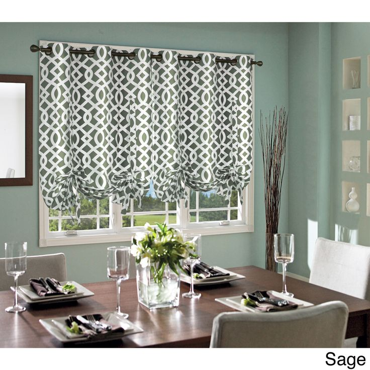 Trellis Thermalogic Weathermate Lined Tie-up Window Shade (Trellis, 40x63, Sage), Grey (Polyester)
