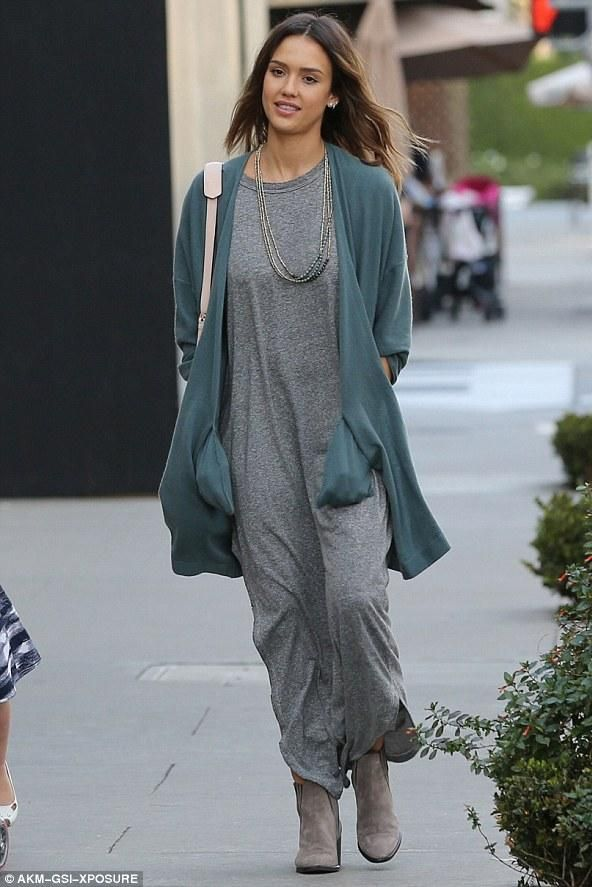 Galerry casual gray maxi dress
