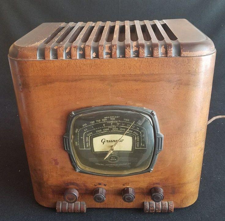 3 Band Tube GRUNOW Radio Model 508 - wood superheterodyne receiver 110 or 6 volt | eBay