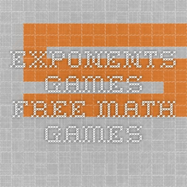 Exponents Games - Free Math Games