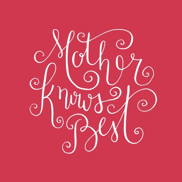 Mother Knows Best Art Print Mothers Modern Calligraphy
