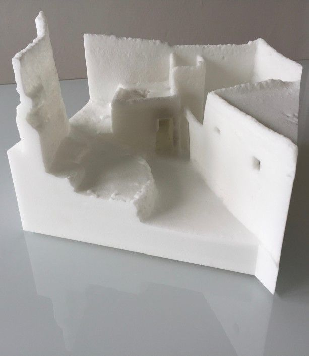 3d printed model from 3d scanning