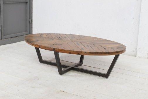 "60"" x 37"" x 16""H Duke Oval Coffee Table"