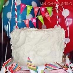 DID IT - really Free and super cute. Did this for a cake like shown.  Mini Cake Bunting - Free Alphabet Printables