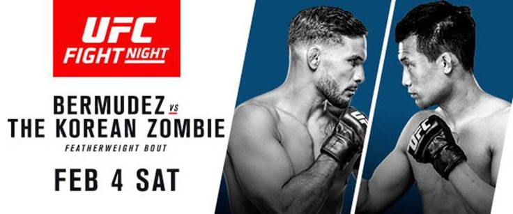 FOLLOW AND SHARE  KOREAN ZOMBIE RETURNS LOOKING TO TAKE A BITE OUT OF THE FEATHERWEIGHT DIVISION WHEN HE CLASHES WITH NO. 8 DENNIS BERMUDEZ Plus: (#12) ALEXA GRASSO vs. FELICE HERRIG (#6) OVINCE SAINT PREUX vs. (#15) JAN BLACHOWICZ   TICKETS FOR UFC FIGHT NIGHT®: BERMUDEZ vs. KOREAN ZOMBIE AT TOYOTA CENTER ON SALE JANUARY …