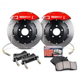 StopTech's Balanced Brake Upgrade equips your Subaru with larger two or four piston front calipers and plus sized StopTech AeroRotors. StopTech big brake kits provide a neutral biased brake system that will improve safety and performance on and off the track as well as add a striking visual enhancement that is second to none https://subimods.com/stoptech-st40-big-brake-kit-front-slotted-rotors-red-2002-2007-wrx-83-836-4r.html