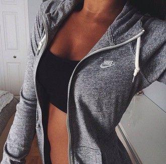 grey jacket nike jacket gray dope streetwear style cardigan nike white top grey hoodie nike sweatshirt nike sportswear