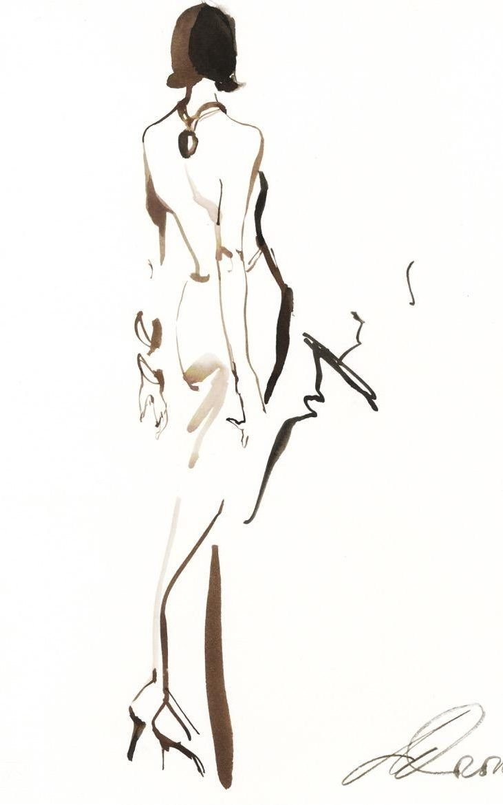 Thierry Mugler illustration by David Downton Más