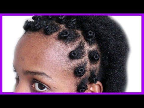 BANTU KNOT ON (SHORT) NATURAL HAIR (1STE TRIAL) - YouTube