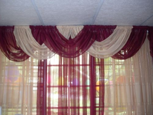 Imagen cortina con cenefa entrelazada - grupos. | Cortinas ...