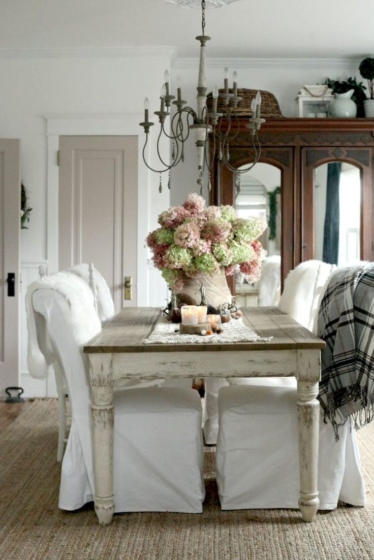 75 Fancy French Country Dining Room Decor