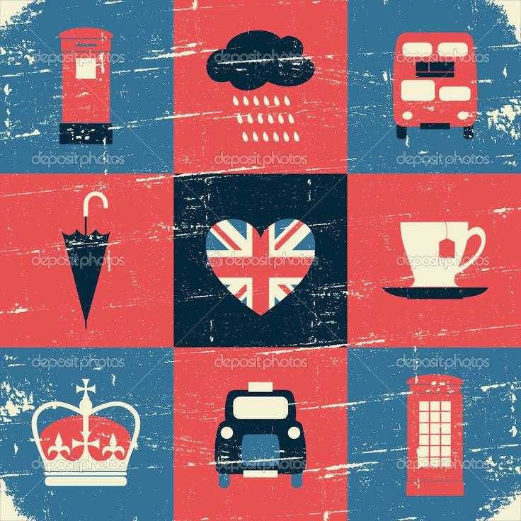 bandera de londres vintage - Buscar con Google