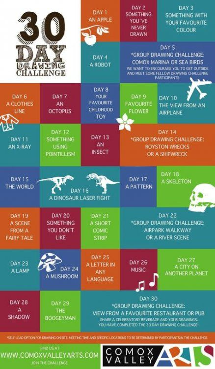 26 ideas drawing challenge 30 day september