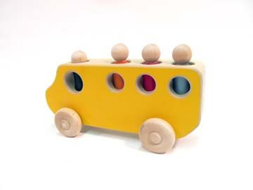 Yellow Wooden toy School Bus by USWoodToys on Etsy