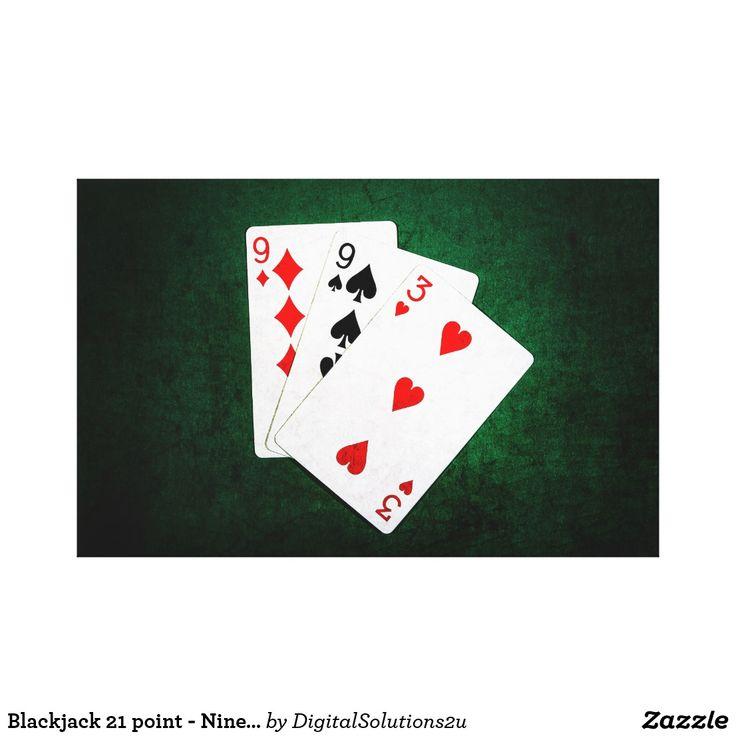 Blackjack 21 point - Nine, Nine, Three Canvas Print