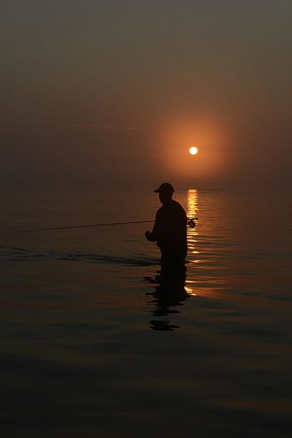 Fly fishing a sunrise Crane Beach 7/4/12 by Brianmoc, via Flickr