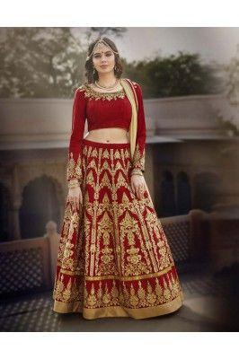 Red and Beige Embroidered Banglori Silk Designer Lehenga Choli Set #designerlehengacholi #silklehenga #womensfashion #bridallehenga #onlinebridallehenga #lehengacholiset Shop here- https://trendybharat.com/red-and-beige-embroidered-banglori-silk-designer-lehenga-tdl116-l-3?search=designer%20lehenga&page=3