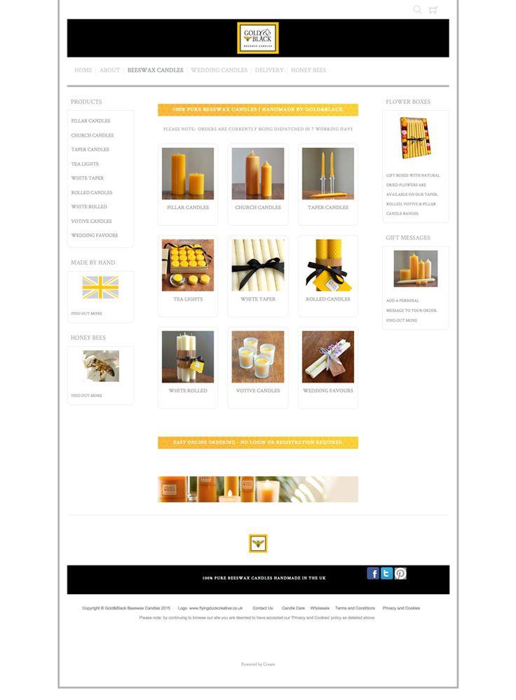 Gold and Blacks Candles website using the Velvet template. Great #responsive #website http://www.goldandblackcandles.co.uk/