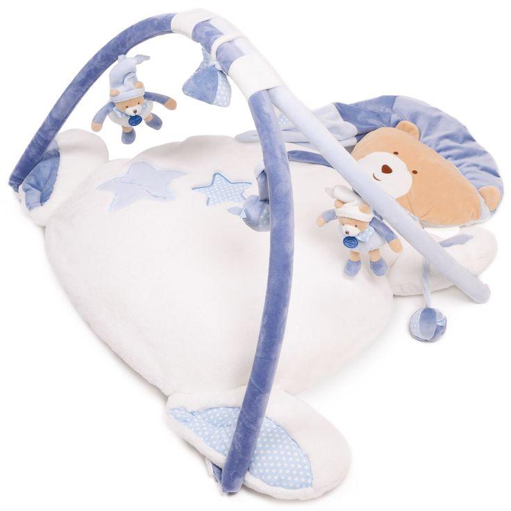 Ours petit chou tapis d'éveil Bleu de Doudou et compagnie, Tapis d'éveil : Aubert