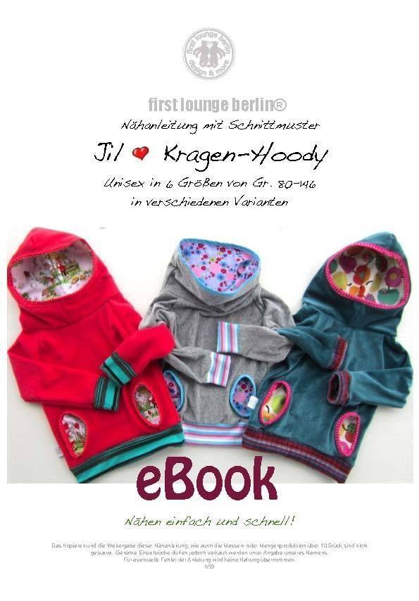 Jil♡ Nähanleitung m.Schnittmuster Unisex Kapuzen-Pullover-Kragen-Hoodie Sweater in Möbel & Wohnen, Hobby & Künstlerbedarf, Nähen | eBay