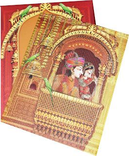 Very Excellent Quality Traditional Indian Wedding Card Found On Www Indianweddingmarket